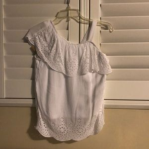 White Eyelet Top from Justice